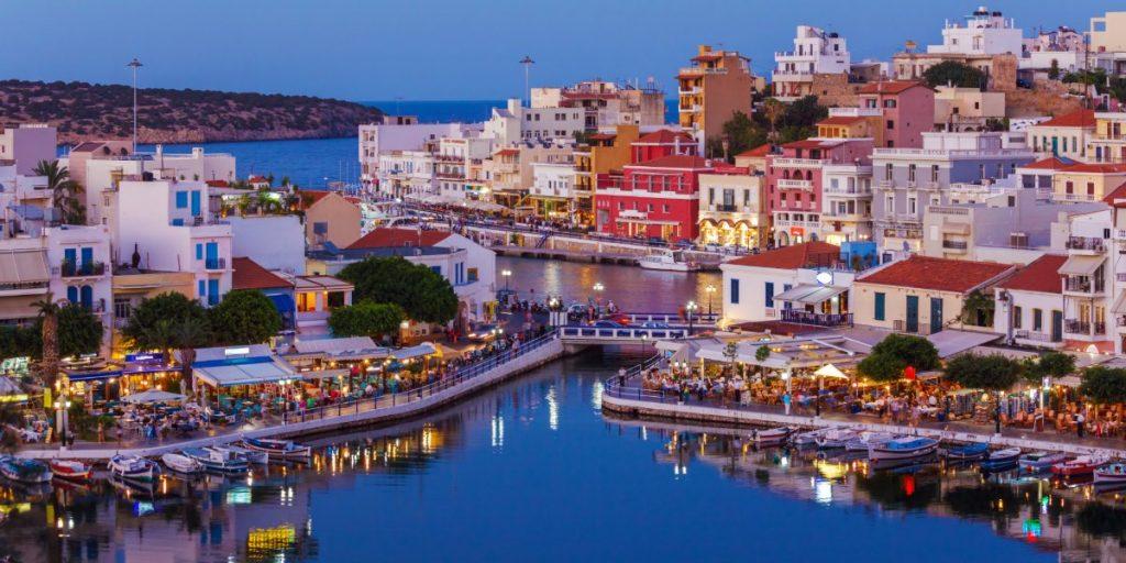 Agios Nikolaos town in Crete