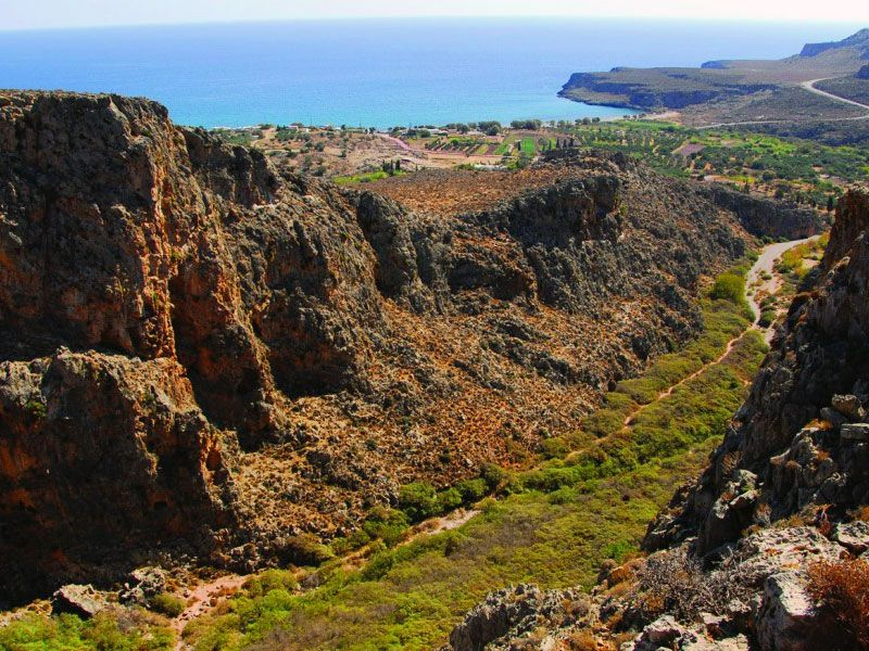 Kato Zakros Village in Crete